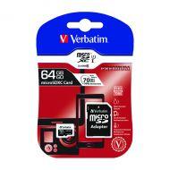 Verbatim 64Gb SDXC Micro Card/Adapter