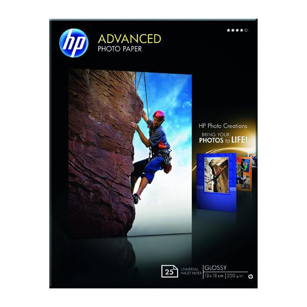 HP Gloss 13x18cm Borderless Paper Pk25